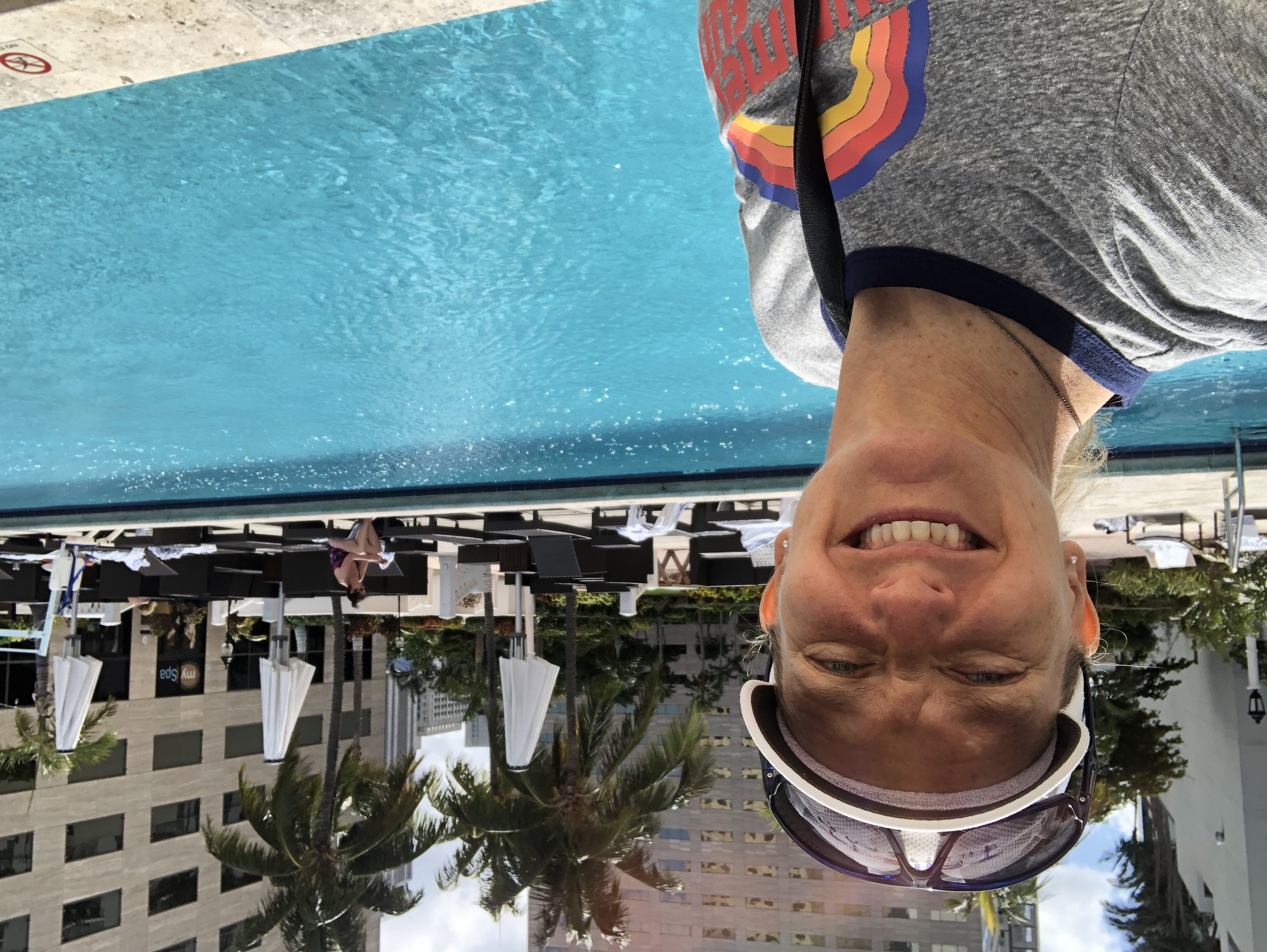 Having fun at the WSSC in Miami... poolside!