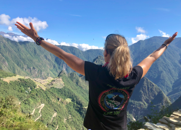 We made it! Overlooking Machu Picchu at the Sun Gate!